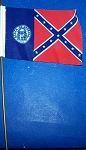 Georgia State Confederate Flag  4 x 6 inch on stick New