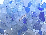 Blue and Ice Sea Glass