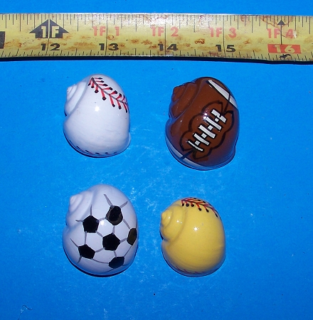 Sports Balls Painted Hermit Crab Shells