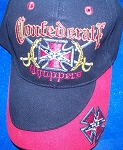 Rebel Confederate Choppers Battle Flag Hat - Black Ball Cap