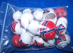 Confederate Rebel Battle Flag Painted Hermit Crab Shells - Lot of 50