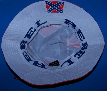 aed939c4989 Dixie Rebel Confederate Battle Flag Bucket Hat - New