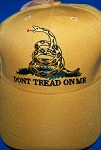 Yellow Don't Tread On Me Hat - New