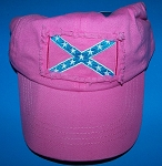 Rebel Girl Confederate Pink Battle Flag Hat