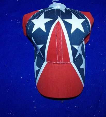 Full Confederate Battle Flag Rebel Hat - New