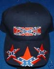Rebel Confederate Redneck Battle Flag Stars Hat - Blue Embroidered New