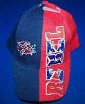 Rebel Confederate Battle Flag Hat - New Red & Blue Embroidered