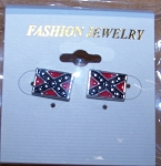Earrings Confederate Battle Flag