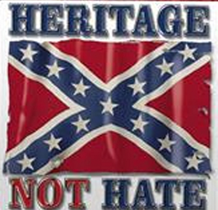 Heritage Not Hate Confederate Battle Flag Window Sticker Decal