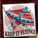 Keep it Flying Confederate Window Sticker Decals