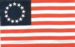 Betsy Ross Flag Super Polyester 3 ft x 5 ft.  Box of 100
