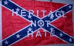 Heritage not Hate Confederate Rebel Super Polyester Battle Flag 3 ft x 5 ft. Box of 100