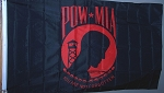 POW Red/Black Flag Super Polyester 3 ft x 5 ft. Box of 100