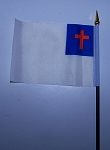 Christian Stick Flag 4 x 6 inch