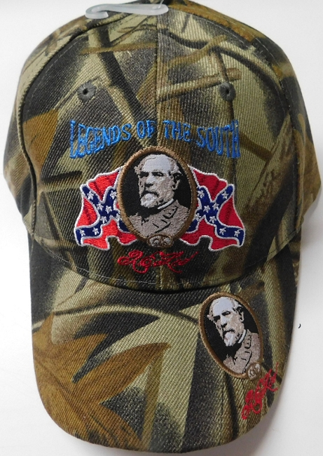Camo Rebel Confederate Legends of the South General Lee Hat