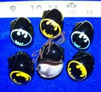 Bats Design Painted Hermit Crab Shells