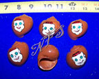Monkey Face Design Painted Hermit Crab Shells