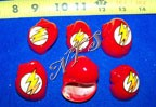 Lightning Bolt Design Painted Hermit Crab Shells