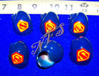 Superman Symbol Painted Hermit Crab Shells
