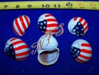 USA Flag Design Painted Hermit Crab Shells