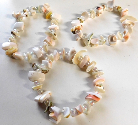 Shell Chip Stretch Band Bracelet Jewelry