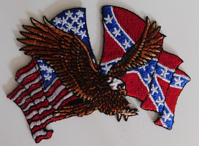 American Confederate Flag Eagle Patch
