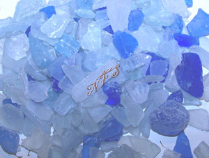 Blue and Ice Sea Glass Bulk Bags