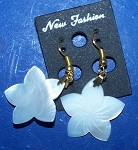 Mother Of Pearl Dangle Flower Shell Earrings