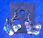 Butterfly Paua Dangle Shell Earrings