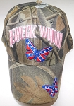 Rebel Confederate Redneck Woman Camo Ball Cap Hat w/ Butterflies