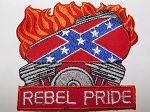 Rebel Pride Patch w/Flames