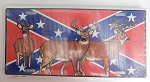 Rebel Confederate Flag with Deer Metal Car Tag