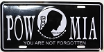 POW MIA Metal Car Tag