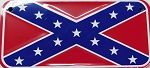 Rebel Confederate Flag Motorcycle Tag