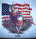 Deer on American Flag  P141