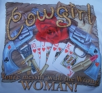 p1305 - Cowgirl you're messin with the wrong women Tshirt