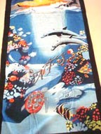 "30"" x 60"" Dolphins Under the Sea Towel New"