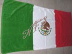 "30"" x 60"" Mexican Flag Beach Towel New"
