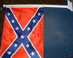 Confederate Car Flag Rebel CSA Battle WINDOW STICK  New