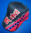 Barbed Wire Rebel Confederate Flag Hat - New