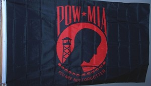 POW Red/black Flag 3'x5'